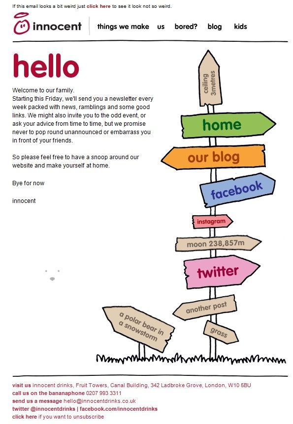 Welcome email campaigns