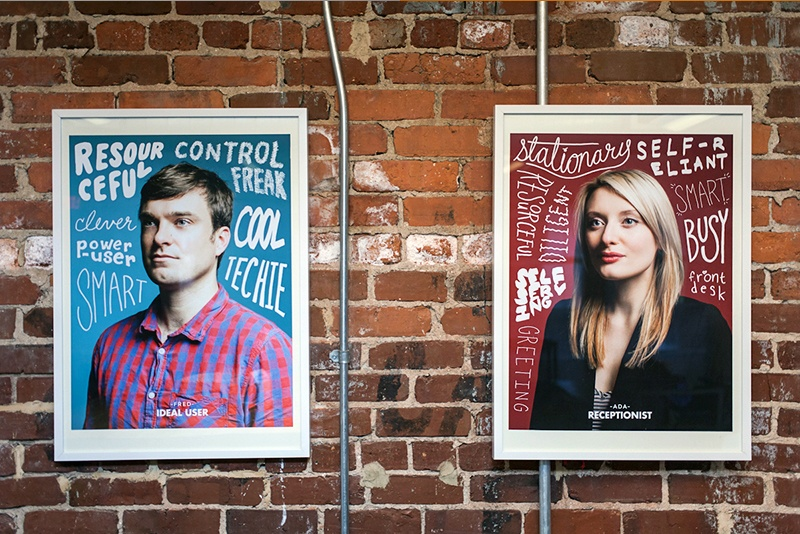 Two portraits representing buyer personas