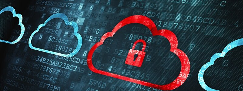 A cloud with a padlock indicating the security and transparency of customer data collection.