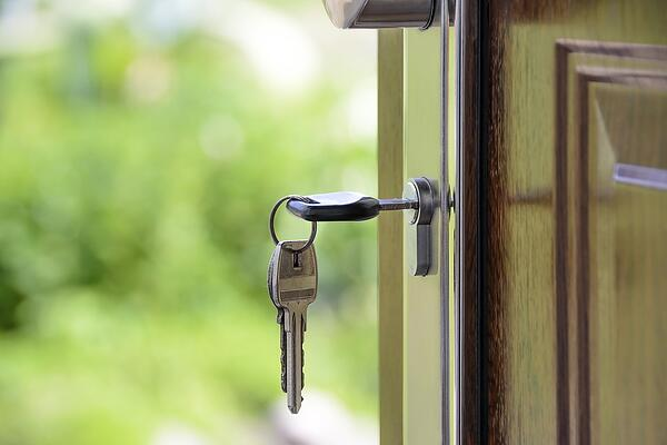 A key in a door to highlight GDPR's new access regulations