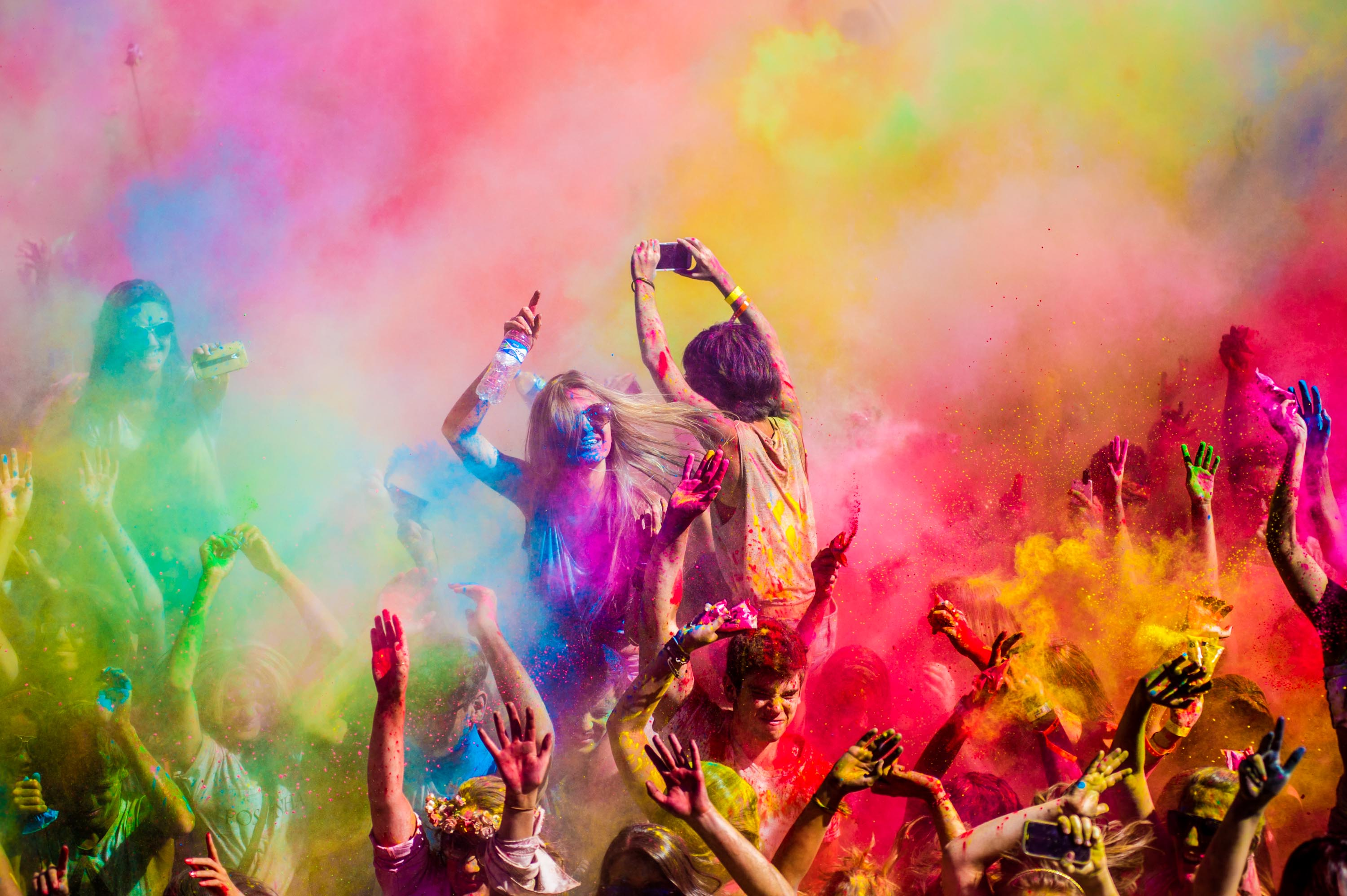 Holi festival illustrating the delight a customer experiences at the bottom of the sales funnel