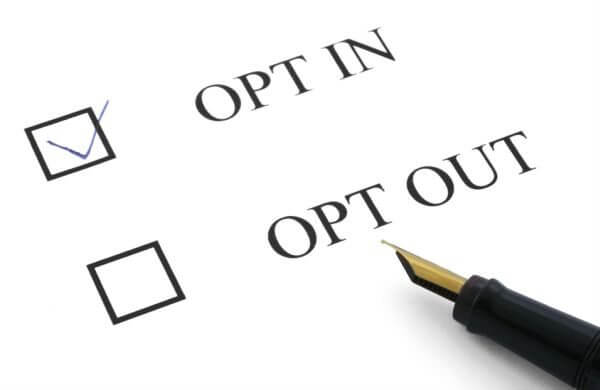 GDPR opt in/opt out